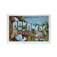Arkansas Greetings Rectangle Magnet