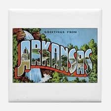 Arkansas Greetings Tile Coaster