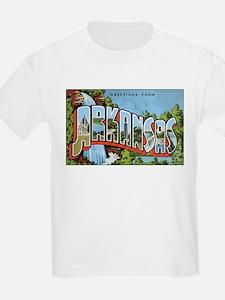 Arkansas Greetings (Front) Kids T-Shirt
