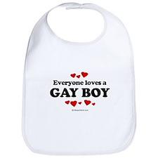 Everyone loves a gay boy ~  Bib