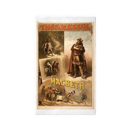 Shakespeare Macbeth 3'x5' Area Rug
