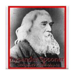 Lysander Spooner Tile Coaster