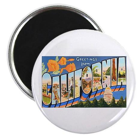 """California Greetings 2.25"""" Magnet (10 pack)"""