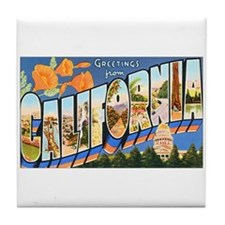 California Greetings Tile Coaster