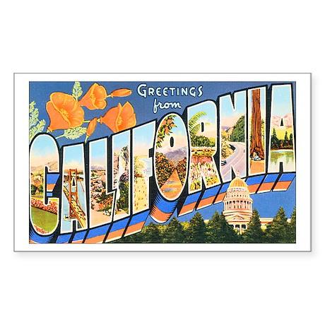 California Greetings Rectangle Sticker