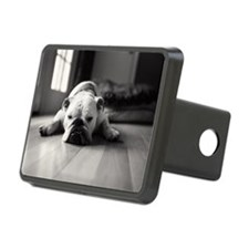 Sleeping English bulldog. Rectangular Hitch Cover