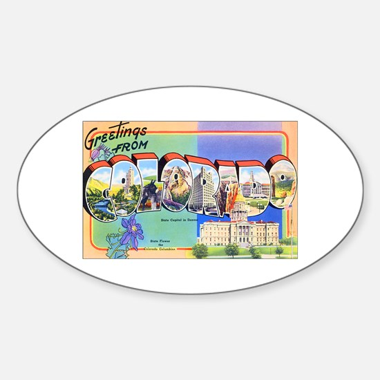 Colorado Greetings Oval Decal