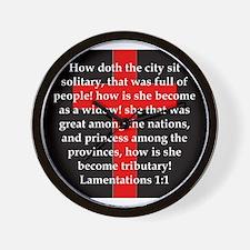Lamentation 1-1 Wall Clock