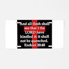 Ezekiel 20:48 Aluminum License Plate