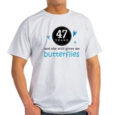 47 Year Anniversary Butterfly T-Shirt