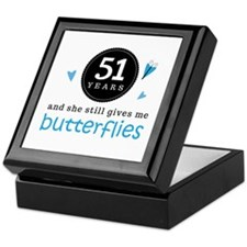51 Year Anniversary Butterfly Keepsake Box