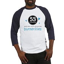 53 Year Anniversary Butterfly Baseball Jersey