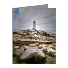 Peggy's Cove lighthouse on r Note Cards (Pk of 20)