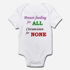 """B/F for ALL, C for NONE"" Infant Bodysuit"