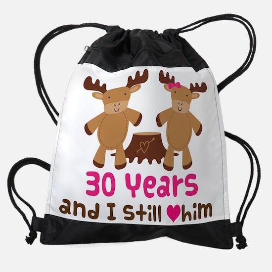30 Anniversary Moose Drawstring Bag