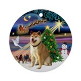 Shiba inu Round Ornaments