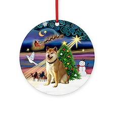 Xmas Magic & Shiba Inu Ornament (Round)