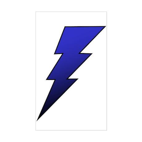 The Lightning Bolt 4 Shop Rectangle Sticker