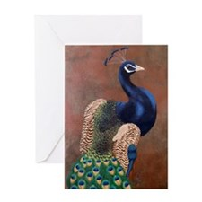 StephanieAM Peacock Greeting Card