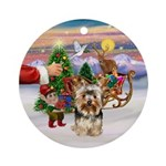 Treat for Yorkie (17) Ornament (Round)