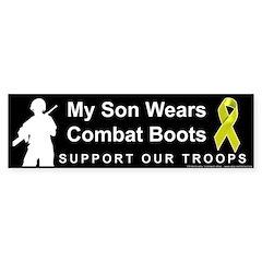 My Son Wears Combat Boots Bumper Bumper Sticker