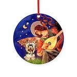 Angel & Yorkie (17) Ornament (Round)