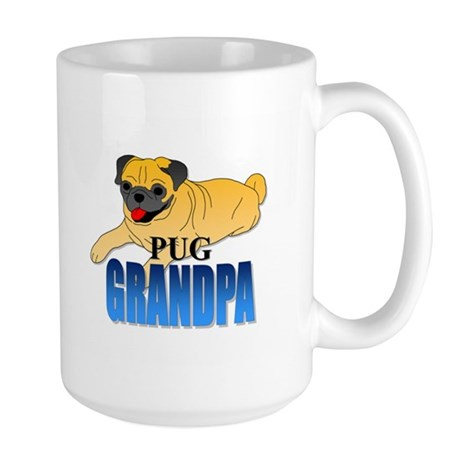 Fawn Pug Grandpa Large Mug