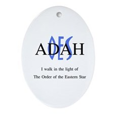 OES Adah '06-'07 Oval Ornament