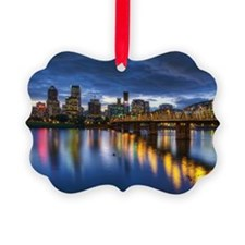 Portland Oregon waterfront skylin Ornament