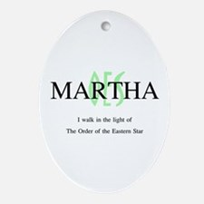 Martha OES Oval Ornament
