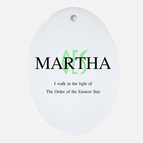Martha OES Oval Ornament