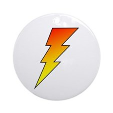 The Lightning Bolt 5 Shop Ornament (Round)
