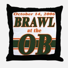 Brawl at the OB Throw Pillow