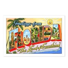 Florida Greetings Postcards (Package of 8)