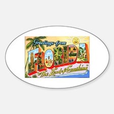 Florida Greetings Oval Decal