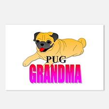 Fawn Pug Grandma Postcards (Package of 8)