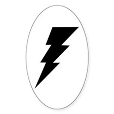 The Lightning Bolt 6 Shop Oval Decal