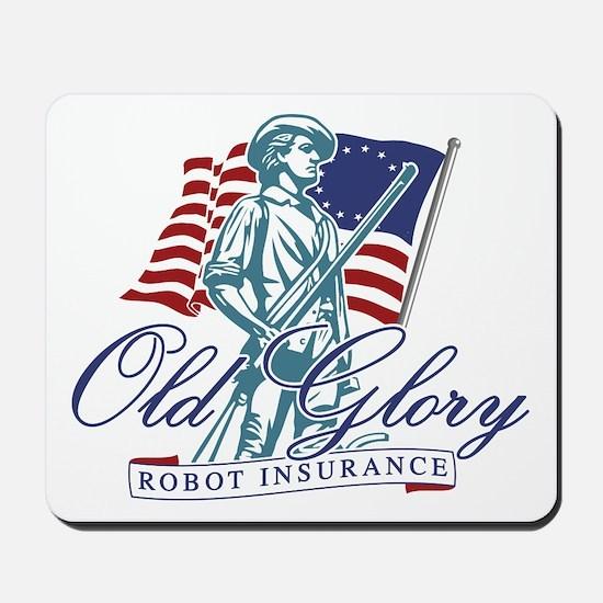 Old Glory Robot Insurance Mousepad