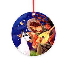 Mandolin Angel & G-Dane (Harl) Ornament (Round