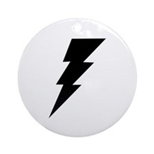 The Lightning Bolt 6 Shop Ornament (Round)