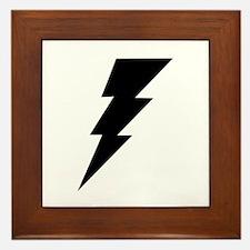 The Lightning Bolt 6 Shop Framed Tile