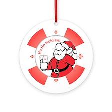 """""""Ho Ho Holdem"""" Poker Chip Ornament"""
