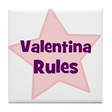 Valentina Rules Tile Coaster