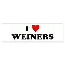 I Love WEINERS Bumper Bumper Sticker
