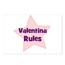 Valentina Rules Postcards (Package of 8)