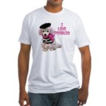 I Love Poodles Fitted T-Shirt