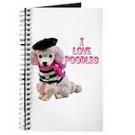 I Love Poodles Journal