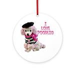 I Love Poodles Ornament (Round)
