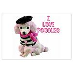 I Love Poodles Large Poster