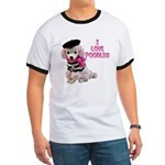 I Love Poodles Ringer T